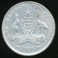 Australia, 1935 Florin, 2/-, George V (Silver) - Extra Fine