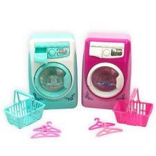 KE_ Kids Mini Simulation Light Electric Washing Machine Basket Pretend Play To