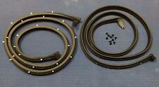 1963 1964 CHEVROLET IMPALA 2DR HARDTOP CONVT MOLDED RUBBER DOOR WEATHER SEAL SET