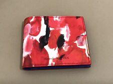 NEW Alexander McQueen Multicolor Painter's Palette Bifold Wallet. Org.$ 380