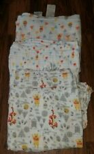 LOT OF 3 DISNEY WINNIE THE POOH SWADDLE BLANKETS BABY BLANKET ADEN