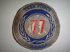 Korea War (1950-53) Patch Us Navy Task Force 77 Korea