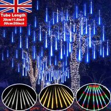LED Meteor Shower Lights Waterproof Falling Rain Outdoor Garden Xmas Decoration