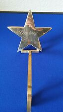 brass christmas stocking hanger Star with Courtney engraving