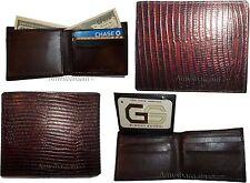 Men's Wallet. Lizard skin printed Leather man's Bifold wallet 2 Billfold ID card