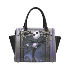 Nightmare Before Christmas Classic Women's Zip Rivet Shoulder Handbag Purse
