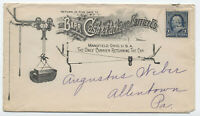 1890s Barr Cash & Package Carrier co. ad cover Mansfield Ohio [y4119]