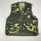 Vintage Duck Bay Men's M Camo Hunting Shooting Water Fowl Vest W/ Shell Holders