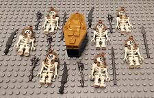 Lego Skeleton Mummy Minifigures Lot 7 Pharoah Monsters Swords Guys Lego People