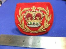 vtg badge patch quartermaster sergeant regimental bullion padded embroidered