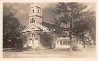 B9/ Jaffrey New Hampshire NH RPPC Postcard c1940s 1st Congregational Church