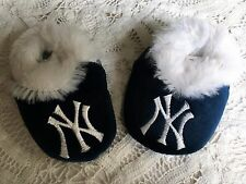 New York Yankee Low Top Baby Bootie Slippers Forever Collectibles