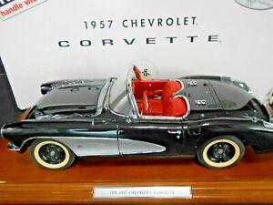 Danbury Mint 1:12 Museum Masterpiece 1957 Chevrolet Corvette Onyx Black *RARE*
