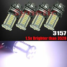 4x High Power 3157 New 7014 8000K Cool White Daytime Running DRL 36 LED Lights