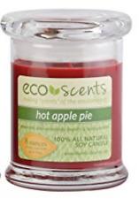 EcoScents TRIO HotApplePie, Lemon-Lav, Caramel Latte, SOY WAX 50 Hr Burn CANDLES