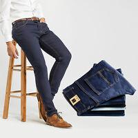 Robelli Men/'s Dark Navy Blue Deluxe Cotton Blend Stretchy Skinny Fit Jeans