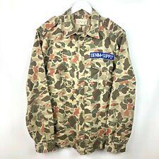 Denim & Supply Ralph Lauren Button Up Sz L Duck Camo Patch #6 Field Military EUC