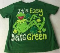 The Muppets Kermit The Frog T-Shirt Green -Kids Size 5T It's Easy Being Green