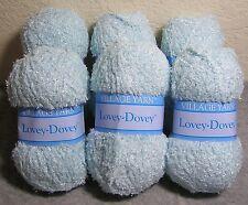 "Lot of 6: Village Yarn ""Lovey-Dovey"" Super Soft Plush w/ Silky Sheen - Baby Blue"