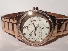 Citizen Ladies Eco Drive Silhouette Crystal Watch Fd2013-50a