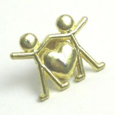 "Heart Friendship Vintage Pin Size 3/4"" Tall 1"" Wide"