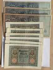 BILLET - lot 10 billets 100 mark ALLEMAGNE (5124J)