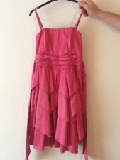 GIRLS STUNNING PINK NEW LOOK DRESS AGE 12