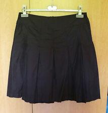 Zwarte gevoerde regenstof A-lijn rok met plooien van H&M Maat 38