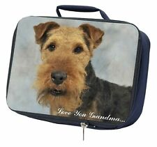 More details for welsh terrier 'love you grandma' navy insulated school lunch box b, ad-wt1lyglbn