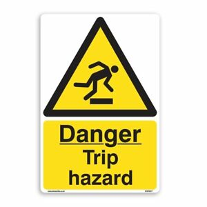Danger Trip Hazard - 5 Pack [A5 150mm x 200mm] Self Adhesive Stickers