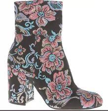 BNWT STEVE MADDEN Black Fuchsia Brochade Boots size 5.5 Rrp £120