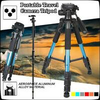 64inch Portable Aluminum Tripod Monopod Travel Ball Head For SLR DSLR Camera