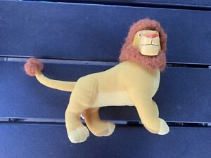 Vintage 1996 Disney Lion King Mufasa Rubber Face Plush Doll Toy Applause
