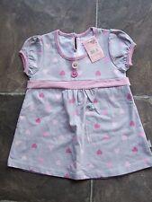 BNWT Girl's Pumpkin Patch Grey & Pink Summer Dress Size 2