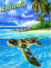Hawaii Hawaiian Island Sea Turtle United States Travel Advertisement Art Poster