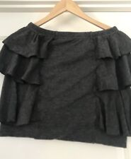 METALICUS WOMENS SKIRT STRAIGHT TIARED GREY STRETCHY MADE IN AU ONE SIZE
