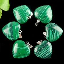 wholesale 6PCS Beautiful heart Malachite Pendant bead BC3979