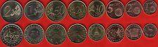 Slovenia euro full set (8 coins): 1 cent - 2 euro 2007-09 UNC