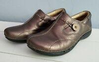 Clarks Un Structured Bronze Comfort Slip On Shoes Women Sz 7 Un.Loop Loafer Loop