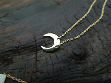 NWT 10k Yellow Gold Crescent Moon Celestial Necklace TRENDING!