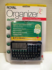 Vintage Royal Organizer dm3045 Business & Personal w/ Calculator 2kb Memory NEW