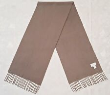 VINTAGE AUTHENTIC CHARTER CLUB SOLID GRAY CASHMERE LONG MENS FRINGE SCARF