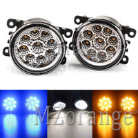Pair LED Front Fog Light Lamps For Nissan Leaf Pathfinder Patrol Frontier NP300