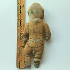 Rare Antique Printed Cut & Sew Doughboy Cloth Doll Wwi Us Army Soldier Black?