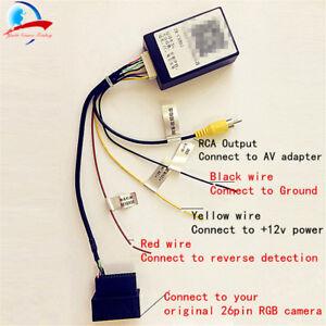 26 PIN RGB to CVBS (RCA) AV Converter for VW Original Camera Output to headunit