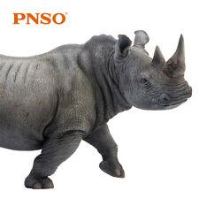PNSO Africa White Rhinoceros Model Rhinos Animal Figure Decor Collector Kid Toy