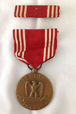 WWII U.S. Army Named Good Conduct Medal with Ribbon Efficiency Honor Fidelity