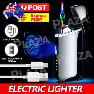Plasma Lighter Lighters Electric Flameless Windproof USB Rechargeable Dual Arc