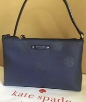 Kate Spade Authentic Haven Lane Ramey Small Crossbody French Navy Glitter Dot