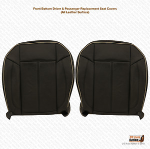 2006 Hummer H3 Driver and Passenger Replacement Bottom Seat Cover-Black Leather